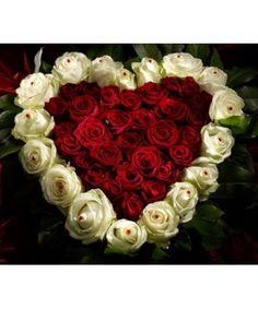 Cei mai frumosi trandafiri special alesi pentru un aranjament special care sa radieze dragoste si iubire prin fiecare din cei 47 trandafiri care compun acest aranjament in forma de inima cu 30 trandafiri rosii Grand Prix si 17 trandafiri albi Avalanche. 101flori.ro livreaza dragostea in fata usi tale! Morning Images, 4th Of July Wreath, Flower Designs, Heart Shapes, Christmas Wreaths, Floral Wreath, Valentines, Holiday Decor, Roses