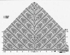 Crochet Shawl + Diagram - Her Crochet Crochet Shawl Diagram, Crochet Chart, Thread Crochet, Lace Knitting, Crochet Stitches, Shawl Patterns, Lace Patterns, Crochet Patterns, Pineapple Crochet