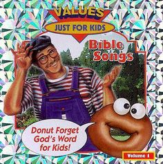 The Donut Man Bible Songs: Volume 1 by Rob Evans… Bible Songs For Kids, Music For Kids, Rob Evans, Learn The Bible, Listen To Song, Church Activities, Thing 1, Coloring Pages To Print, Christian Music