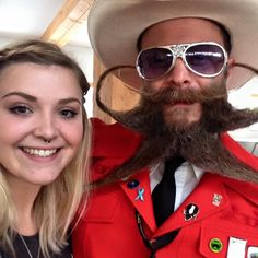 Paul Roof and Alexandra Sarah Lily Hutchings at the World Beard & Moustache Championships, Leogang, Austria.