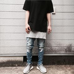 Men Street Look, Street Style, Style Japonais, Japan Fashion, Hypebeast, Shirt Dress, T Shirt, Sneakers, Off White