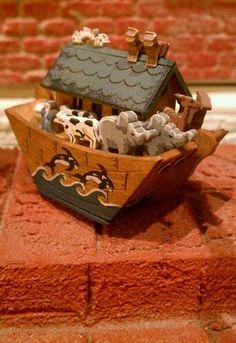 "Karen Markland Dollhouse Miniature ""Noah's Ark"" Artist Signed"