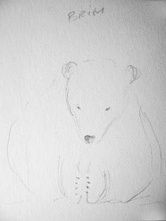 Zeichnen: Eisbär-Baby mit Bleistift skizzieren