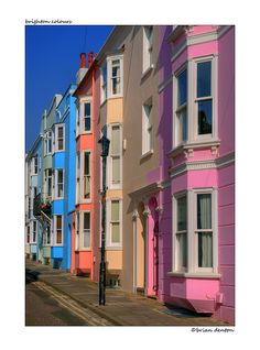 Brighton Colours, Crescent Place in the City of Brighton, East Sussex, England Copyright: Brian Denton