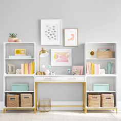 Shop desk from Pottery Barn Teen. Our teen furniture, decor and accessories collections feature fun and stylish desk. Create a unique and cool teen or dorm room. Desk Cubby, Cubby Storage, Smart Storage, Kids Desk With Storage, Teen Room Storage, Modular Storage, Desk Hutch, Record Storage, Teen Room Decor