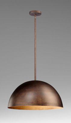 Large Carson Pendant Lamp design by Cyan Design Copper Light Fixture, Copper Lighting, Light Fixtures, Bathroom Pendant Lighting, Pendant Lamp, Pendant Lights, Kitchen Lighting Over Table, Kitchen Dining, Suspension Metal