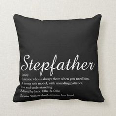 Shop World's Best Ever Stepfather, Stepdad Definition Throw Pillow created by thisisnotmedesigns. Happy Fathers Day Brother, Happy Father's Day Husband, Fathers Day In Heaven, Fathers Day Ideas For Husband, Happy Fathers Day Pictures, Fathers Day Frames, Happy Fathers Day Images, Easy Fathers Day Craft, Fathers Day Wishes