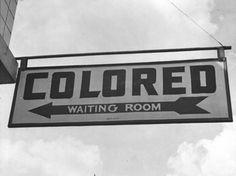 1930's- Coloured Waiting Room America