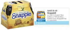 New and rare $1/1 Snapple Tea or Juice 6-Pack printable coupon = Only $.66 per bottle at Rite Aid through tomorrow! - http://printgreatcoupons.com/2013/11/22/new-and-rare-11-snapple-tea-or-juice-6-pack-printable-coupon-only-66-per-bottle-at-rite-aid-through-tomorrow/