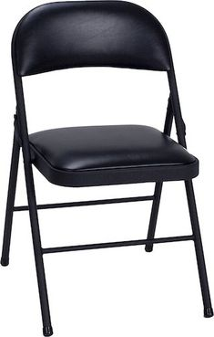 Best Folding Chairs 4. Cosco Vinyl 4-Pack Folding Chair (Black)