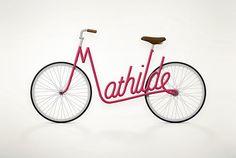 Les « vélos-prénoms » de Juri Zaech
