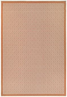 Wexford Sea Pier Sand/Salmon Indoor/Outdoor Area Rug