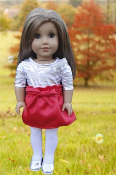 Paper Bag Skirt for American Girl Dolls | Free Sewing Pattern for American Girl Dolls