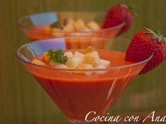 Receta Entrante : Gazpacho de fresas por Cocina con Ana