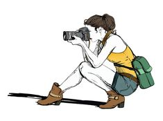 It's time for you to choose a wedding photographer.You want a wedding photographer whose work you love, and who's personality you like. Camera Logo, Camera Art, Portfolio Fotografia, Art Sketches, Art Drawings, Camera Drawing, Girls With Cameras, Digital Art Girl, Photo Journal