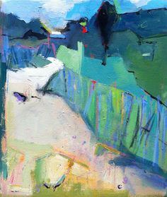 ☼ Painterly Landscape Escape ☼ landscape painting by Page Railsback