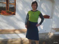 ISPICA, spiegazione a fare maglia di un vestito di lana di domoras