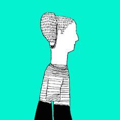 #Illustration #gif #brain #head #digitalart #psychedelia #colors #blackandwhite #AnagramaArtLab @dabliuponto