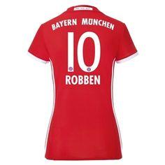 Bayern Munich 16/17 ROBBEN Women's Home Soccer Jersey - BayernMunichStoreUSA.com
