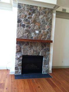 Rock fireplace. Rock Fireplaces, House, Ideas, Home Decor, Stone Fireplaces, Decoration Home, Home, Room Decor, Home Interior Design