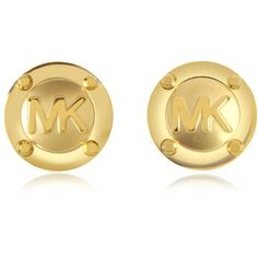 Michael Kors Heritage Signature Golden Stud Earrings and other apparel, accessories and trends. Browse and shop 21 related looks.