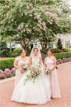 bridesmaids in pastel pink gowns hold bouquets of pink roses | Classic summer wedding at the Ashford Estate with fairytale details photographed by NJ wedding photographer Idalia Photography. See more inspiration here for a classic summer wedding day! #IdaliaPhotography #AshfordEstateWedding #NJWedding #ClassicWedding Ashford Estate, Bridesmaids, Bridesmaid Dresses, Nj Wedding Venues, Wedding Bouquets, Wedding Dresses, Bridal Parties, Pink Gowns, Wedding Gallery