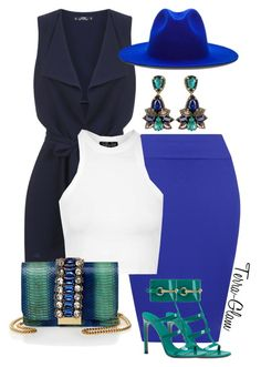 """Caribbean Blues"" by terra-glam ❤ liked on Polyvore featuring Miss Selfridge, WearAll, Topshop, GEDEBE, Gucci and Études"