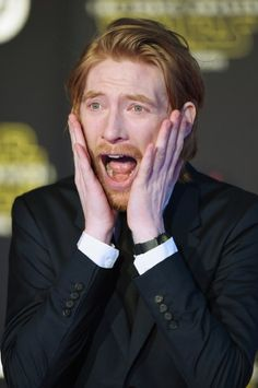 Domhnall Gleeson at event of Star Wars: The Force Awakens (2015)
