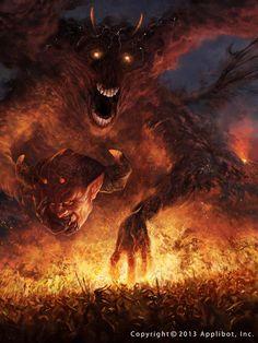 The Devil's true face by Ryan Lee : Fantasy Demon Art, Ange Demon, Monster Art, Fantasy Monster, Dark Fantasy Art, Fantasy Artwork, Dark Art, Arte Horror, Horror Art