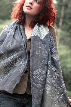EXCLUSIVE! Photographer's Scarf in Charcoal ~ A Must Have! Includes Shipping (Save 63%) - Photo Dough