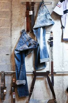 Denim, heave duty, pinned by Ton van der Veer