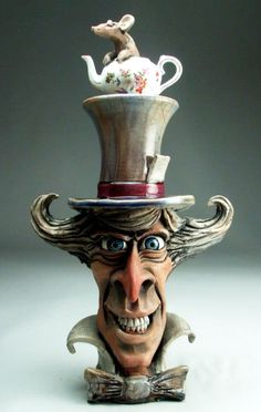 By Grafton pottery Pottery Sculpture, Pottery Art, Sculpture Art, Ceramic Sculptures, Concrete Sculpture, Sculpture Projects, Whimsical Art, Clay Art, Alice In Wonderland