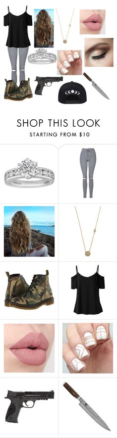"""Untitled #171"" by emilypaul0400 on Polyvore featuring Tiffany & Co., Topshop, Blu Bijoux, Dr. Martens, Smith & Wesson and Shun"