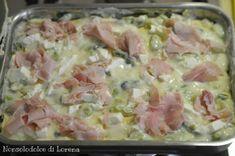 Lasagne con asparagi e prosciutto Linguine, Lasagna, Pasta Salad, Italian Recipes, Potato Salad, Ale, Food And Drink, Cooking, Ethnic Recipes