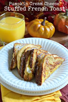 Cream Cheese Stuffed French Toast Pumpkin Cream Cheese Stuffed French Toast - Plates and Napkins from worldmarket Pumpkin Cream Cheese Stuffed French Toast - Plates and Napkins from worldmarket Ideas Tostadas, Mexican Breakfast Recipes, Chef Recipes, Milk Recipes, Sweets Recipes, Yummy Recipes, Healthy Recipes, Pumpkin Spice Syrup, Pumpkin Cream Cheeses