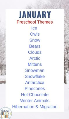 January Preschool Themes with Lesson Plans and Preschool Activities, Preschoolers will enjoy these fun hands on activities with monthly winter themes that include activities and printables, List of Themes for Preschool, January Holidays, Preschool Activities, Preschool Lesson Plans for the Year #preschool #preschoolactivities #preschoolthemes #kindergarten #preschoolers
