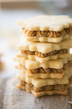 Vanilla Cardamom Shortbread Snowflake Sandwich Cookies