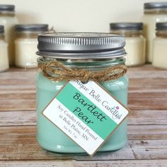 Bartlett Pear Mason Jar Soy Candle