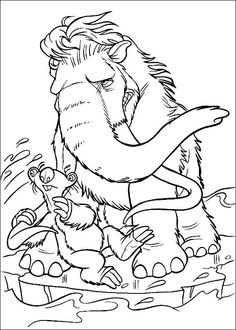 Ice Age Very Angry Cartoon Coloring Pages Disney Free Printable