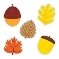 (3 Pk) Leaves & Acorns Cut Outs