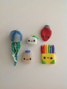 Here are some of my clay charms!