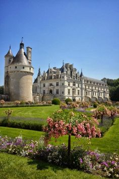 Famous Gardens of the World - Château de Chenonceau ~ Loire, France