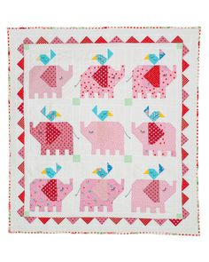 Little Elephant Quilt. - Red Brolly