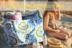 Oversized Beach Bag tutorial...perfect for summer! #sewing