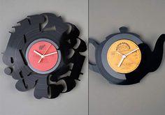 Reciclagem artesanal de discos de vinil - Plásticos - Arte Reciclada