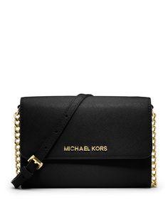 Jet Set Travel Large Phone Crossbody Bag, Black by MICHAEL Michael Kors at Neiman Marcus.