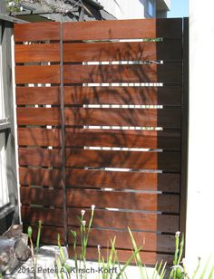 Custom Ironwood Horizontal Side Access Gate - Play Del Rey / Pacific Palisades, CA