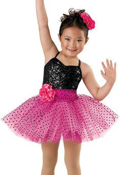Girls' Cute Sequin Dotted Dress; Weissman Costumes