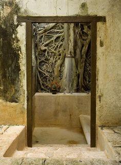 Outdoor shower - Hacienda Santa Rosa