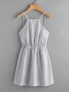 Shop Striped Cut Out Bow Tie Open Back Cami Dress online. SheIn offers Striped Cut Out Bow Tie Open Back Cami Dress & more to fit your fashionable needs. Trendy Dresses, Cute Dresses, Trendy Outfits, Casual Dresses, Cute Outfits, Summer Dresses, Long Dresses, Sparkly Dresses, Sleeveless Dresses